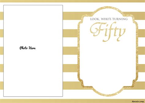 free printable 50th birthday invitations template drevio