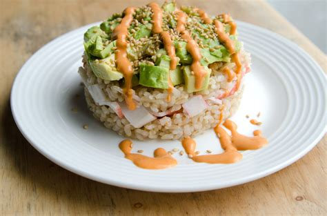crab and avocado stack crab and avocado sushi stack a well fed life