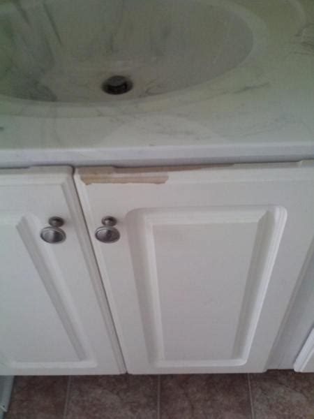Peeling Thermofoil Cabinets Peeling White Cabinets Doityourself Community Forums