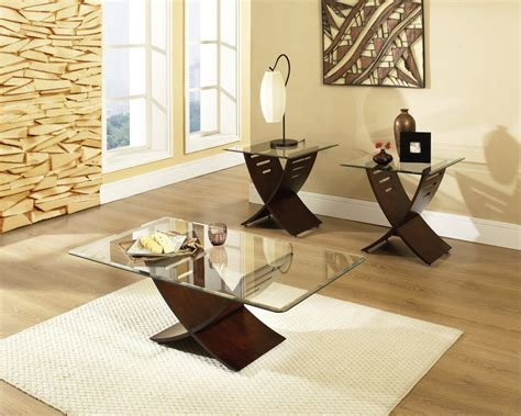 Glass Table Sets For Living Room Living Room X Shaped Legs With Rectangular Glass Top Living Room Table Set Occasional Table
