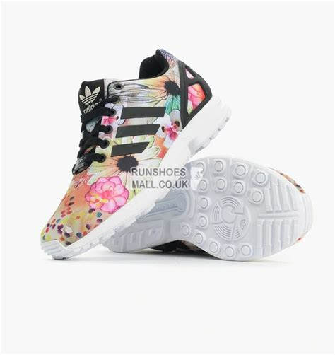adidas floral shoes 163 58 00 adidas originals zx flux womens black floral