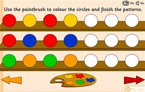 pattern games for eyfs using applying archives maths zone cool learning games
