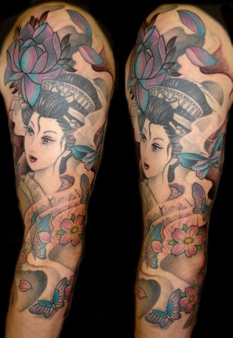 tatuaggi geisha con fiori foto e significato tatuaggi giapponesi drago carpa
