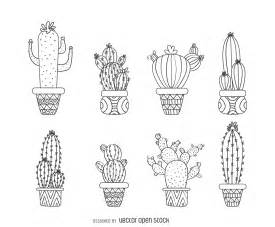 Kitchen Collection Promo Code by Hand Drawn Outline Cactus Collection Free Vector