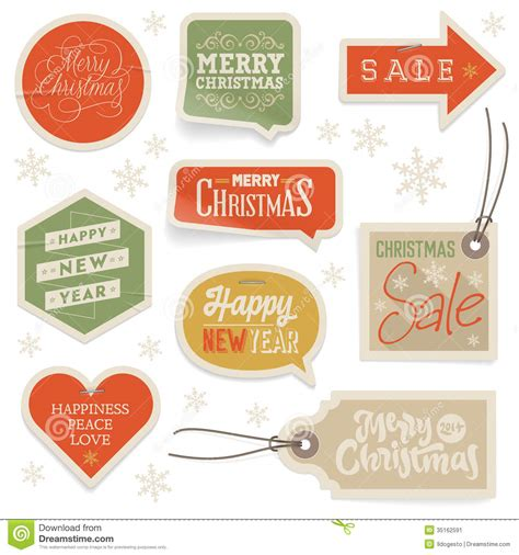 new year label vector stickers and labels for and new year stock image