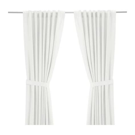white backed curtains ritva curtains with tie backs 1 pair 57x118 quot ikea