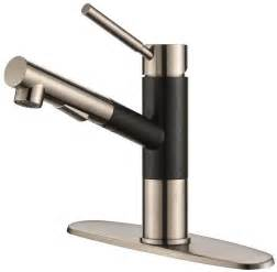 Black Kitchen Faucet With Sprayer Geo Axis Single Handle Pull Out Sprayer Kitchen Faucet In Stainless Black Onyx Ebay