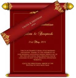 all scroll style email wedding card templates luxury indian asian email wedding card design