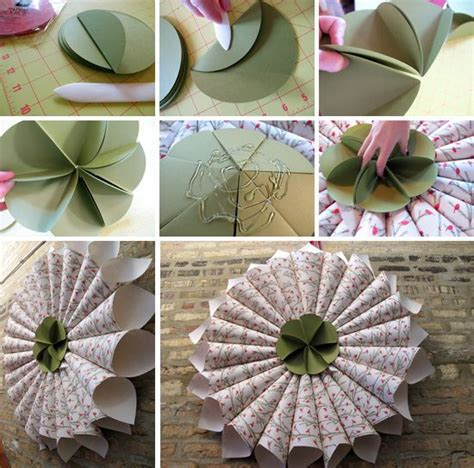Home Decor Handmade Crafts - how to make paper wreaths handmade craft home d 233 cor ideas
