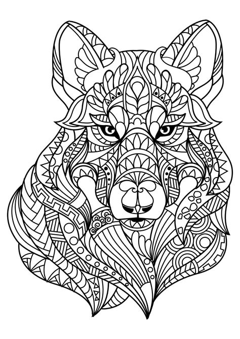 coloring page for adults pdf animal coloring pages pdf adult coloring dog cat and