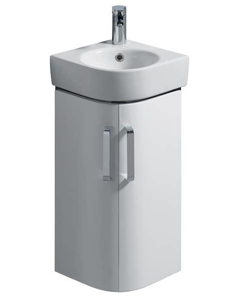 Twyford E200 425mm White Corner Unit And 320mm Handrinse Basin Bathroom Vanities Corner Units