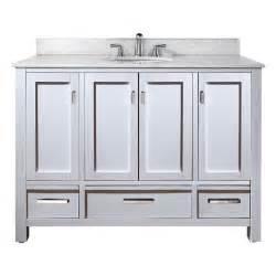 48 Bathroom Vanity Cabinet 48 Quot Modero Bathroom Vanity White Bathroom Vanities Ardi Bathrooms