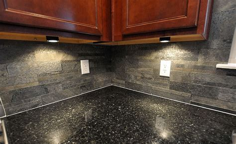 black countertop slate brick backsplash backsplash