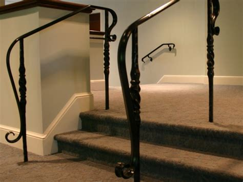 Decorative Handrail alpha iron works 187 decorative iron handrails for renovation of irondequoit country club