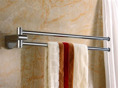 bathroom wall towel holder 18 inch double towel bar chrome wall mounted bathroom