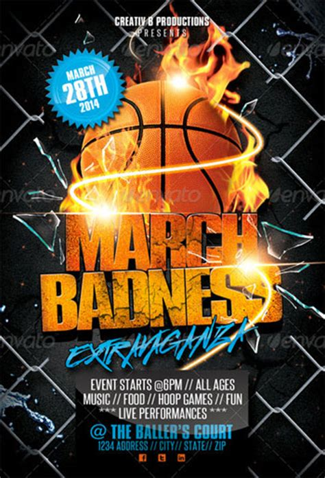 Flyer Templates For Your March Madness Party Madness Flyer Template