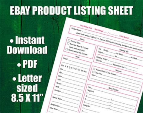 ebay seller templates 30 day sprint plan and worksheet for etsy sellers
