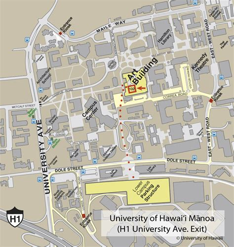 uh manoa map of hawaii at manoa cus map univeristy of hawaii at manoa mappery