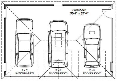 size of garage 3 car garage floor plans inspiration decorating 39579