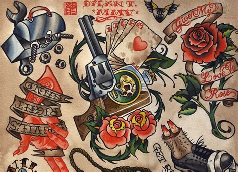 old tattoo designs school images designs
