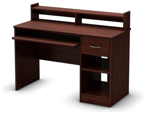 south shore furniture axess small desk royal cherry south shore axess desk with keyboard tray royal cherry