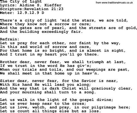 i am the light of the hymn hymns the city of light lyrics sheetmusic