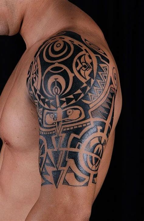 tribal chest tattoo designs for men best 25 tribal shoulder tattoos ideas on