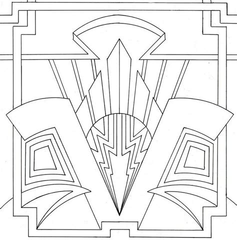 printable art deco designs art deco coloring pages coloring home