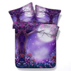 Purple Single Duvet Cover 3d Purple Comforter Sets Flower Bedding Queen Full Super