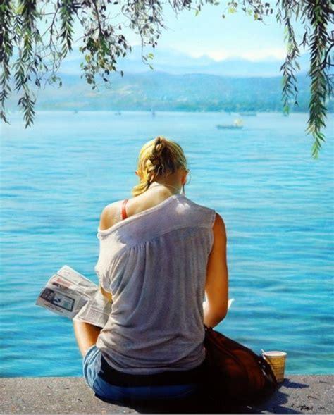 imagenes mujeres en el mar pinturas cuadros lienzos mujer en el mar cuadros al oleo