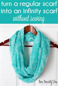 Make An Infinity Scarf From A Regular Scarf How To Turn A Regular Scarf Into An Infinity Scarf