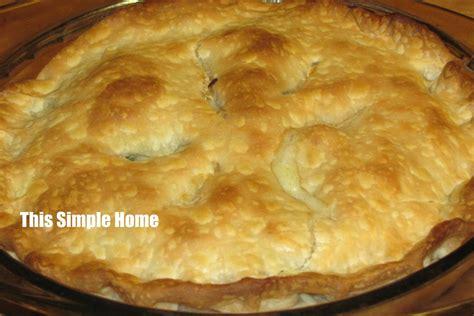 this simple home chicken pot pie recipe