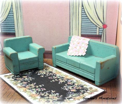 Vintage Living Room Sets 21 Best Images About Vintage 1940 S Dollhouses On Pinterest White Plaid Vintage And Vintage