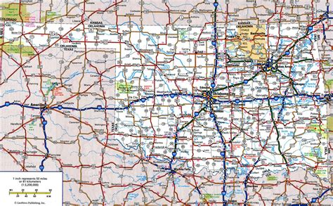 map usa roads oklahoma road map