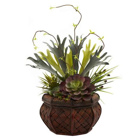 Decorative Succulent Arrangements by Succulent Garden Silk Plant With Decorative Planter Artificial Plants Silk Plants