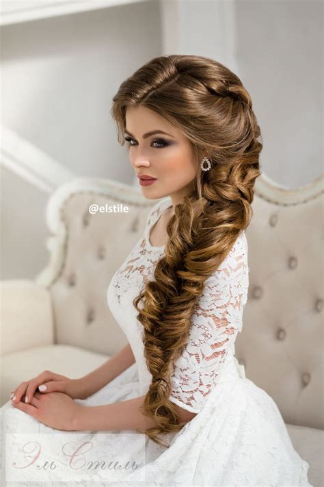 braided hairstyles long hair wedding long braided wedding hairstyle via elstile braided