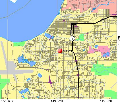 Anchorage Zip Code Map by City Map Of Anchorage Alaska