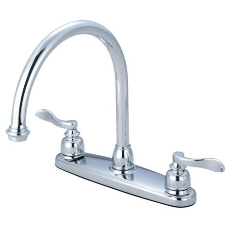 kitchen faucets brass kingston brass kb8791nflls nuwave french 8 quot centerset