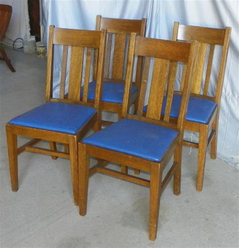 Mission Oak Dining Chairs Bargain S Antiques 187 Archive Mission Oak Arts Crafts Set Of Four Antique Dining
