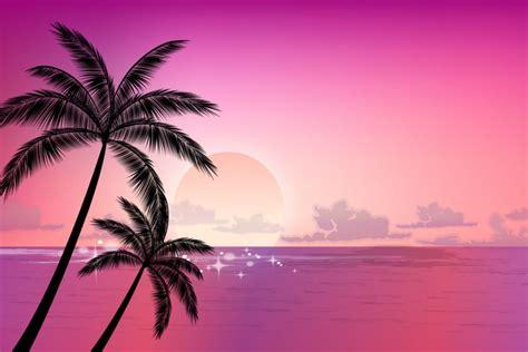 Hermosa Hawaiian Pink palmera vector imagui
