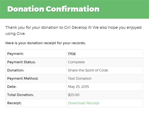 Donation Confirmation Letter Template Pdf Receipts Givewp