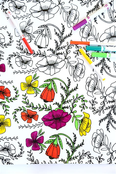 coloring book wrapping paper printable coloring wrapping paper for mothers day say yes