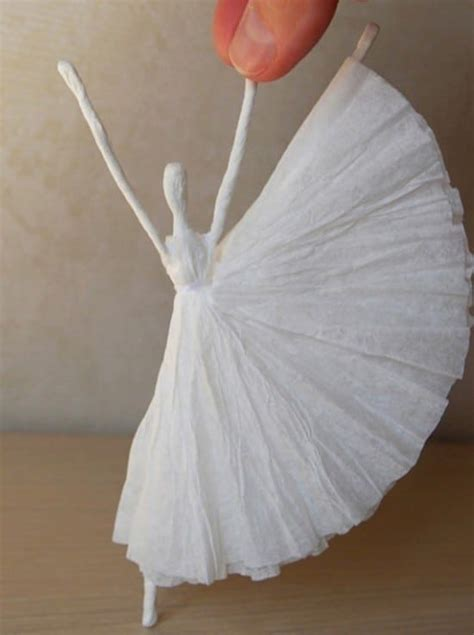 How To Make A Paper Napkin - diy paper napkin ballerina is so easy to make the whoot
