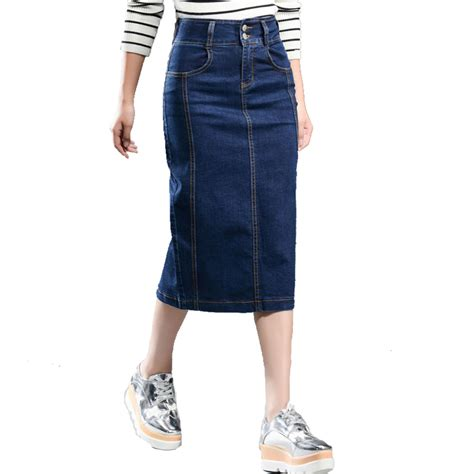 aliexpress buy denim skirt plus size new 2016