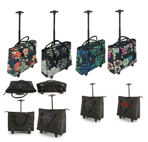 cabin bag trolley lightweight wheeled shopping tote cabin bag trolley