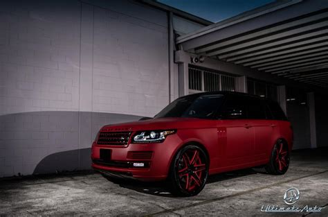 matte red range rover matte red range rover celebrity auto edition by ultimate auto