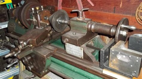 Antique Lathe Wood Frame Chain Drive Maine Find Page 2