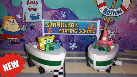 boating school spongebob boating school toy review unboxing youtube