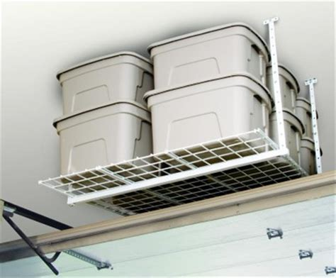 ceiling storage rack ceiling mounted overhead garage storage rack by hyloft 00540 california car cover company