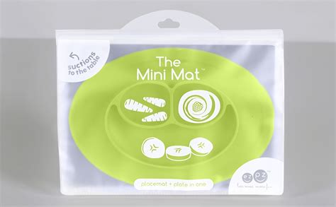 Ezpz Mini Mat In Lime ezpz mini mat